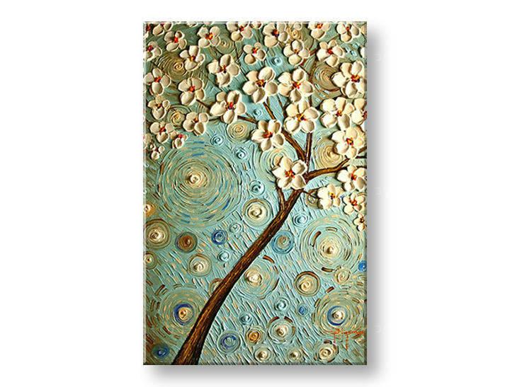 Ručně malovaný obraz 1 dílný STROM BI0091E1 malované obrazy BIANCA