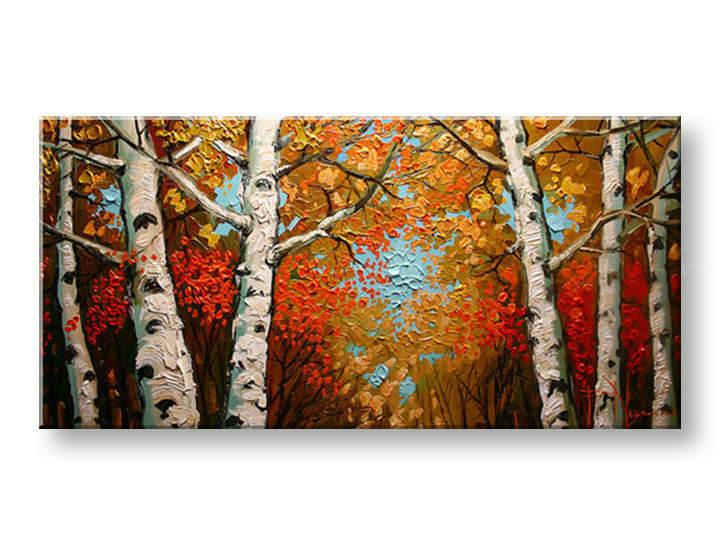 Ručně malovaný obraz 1 dílný STROMY BI0095E1 malované obrazy BIANCA