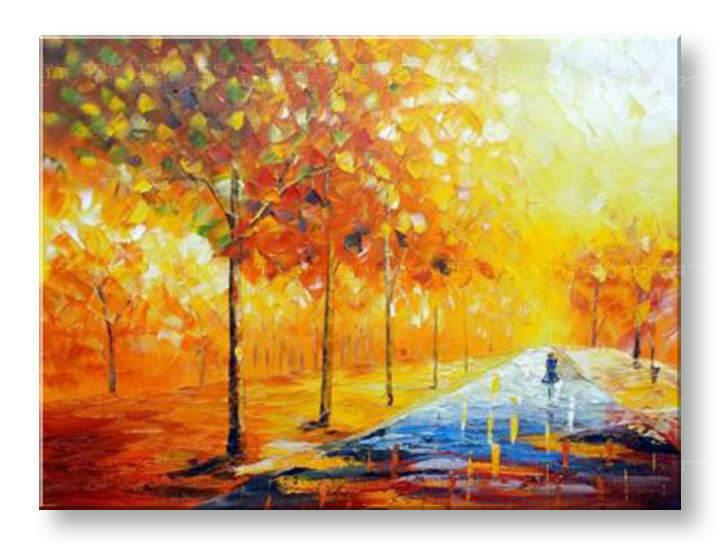 Ručně malovaný obraz na stěnu STROMY BI130E1 89320c476f