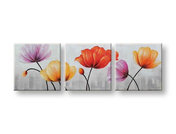 Ručně malovaný obraz na zeď KVĚTY FB003E3 malované obrazy FABIO
