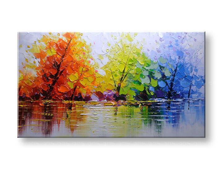 Ručně malovaný obraz na zeď STROMY FB012E1 malované obrazy FABIO