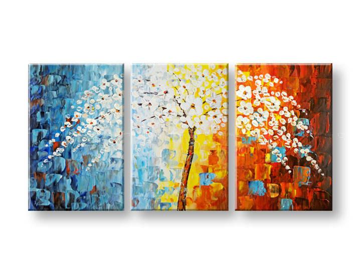 Ručně malovaný obraz na zeď KVĚTY FB037E3 malované obrazy FABIO