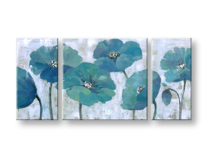 Ručně malovaný obraz na zeď KVĚTY FB039E3 malované obrazy FABIO