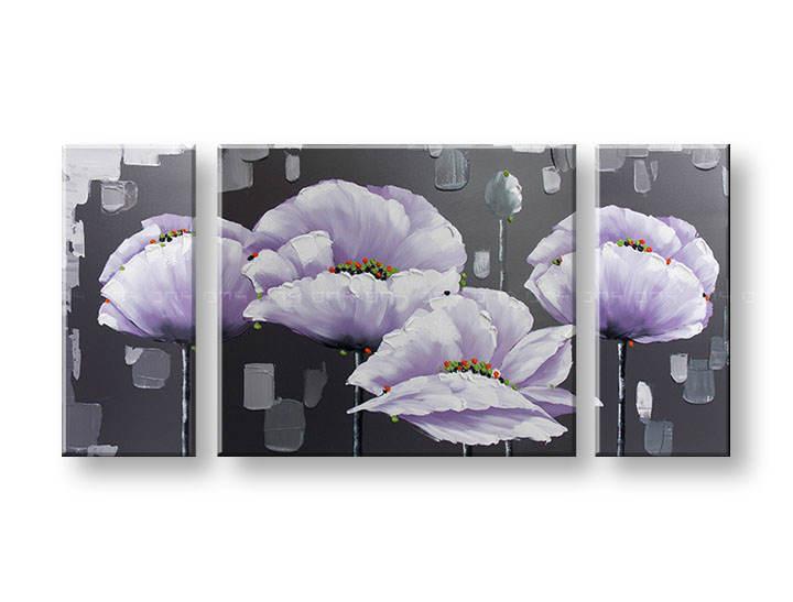 Ručně malovaný obraz na zeď KVĚTY FB040E3 malované obrazy FABIO