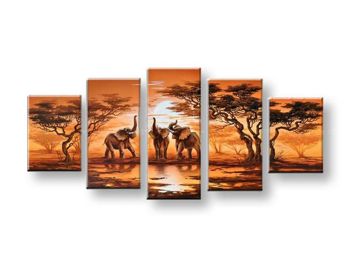 Ručně malovaný obraz na zeď AFRIKA FB046E5 malované obrazy FABIO