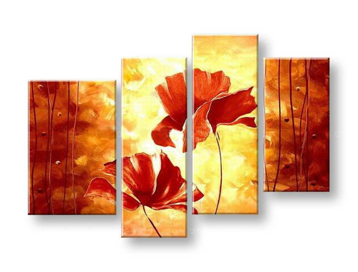 Ručně malovaný obraz na zeď KVĚTY FB048E4 malované obrazy FABIO