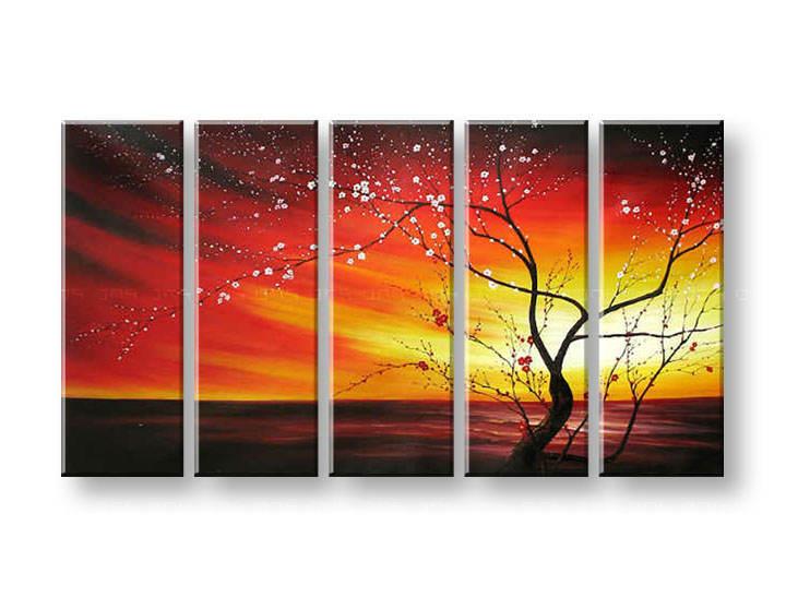 Ručně malovaný obraz na zeď STROMY FB049E5 malované obrazy FABIO