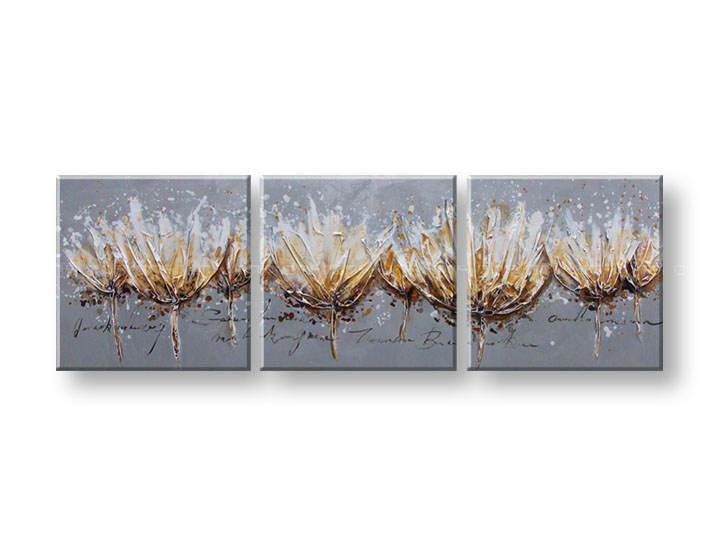 Ručně malovaný obraz na zeď KVĚTY FB051E3 malované obrazy FABIO