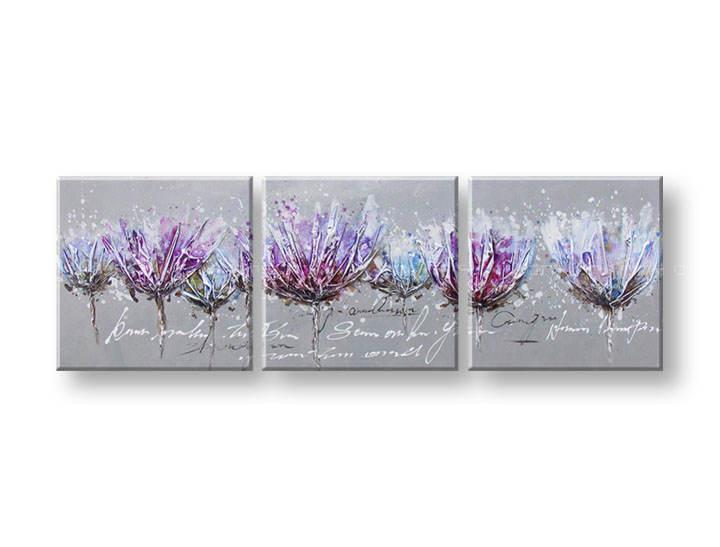 Ručně malovaný obraz na zeď KVĚTY FB053E3 malované obrazy FABIO