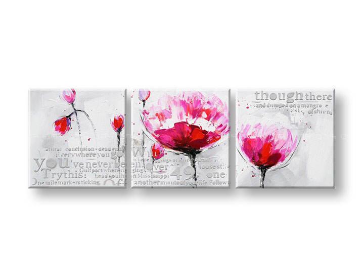 Ručně malovaný obraz na zeď KVĚTY FB054E3 malované obrazy FABIO