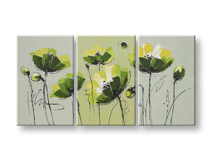 Ručně malovaný obraz na zeď KVĚTY FB070E3 malované obrazy FABIO