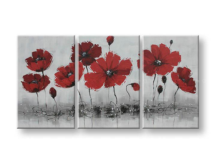 Ručně malovaný obraz na zeď KVĚTY FB071E3 malované obrazy FABIO