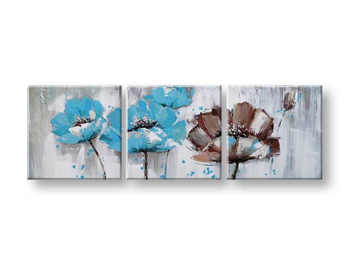 Ručně malovaný obraz na zeď KVĚTY FB072E3 malované obrazy FABIO