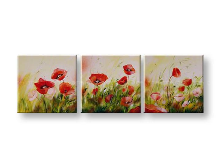 Ručně malovaný obraz na zeď KVĚTY FB096E3 malované obrazy FABIO