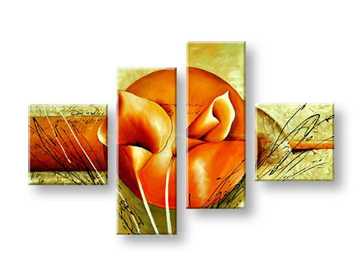 Ručně malovaný obraz na zeď KVĚTY FB097E4 malované obrazy FABIO