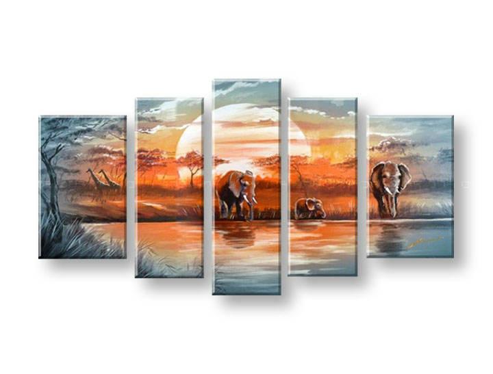 Ručně malovaný obraz na zeď AFRIKA FB099E5 malované obrazy FABIO