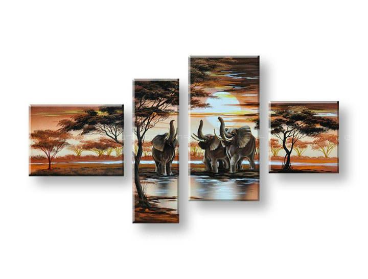 Ručně malovaný obraz na zeď AFRIKA FB100E4 malované obrazy FABIO