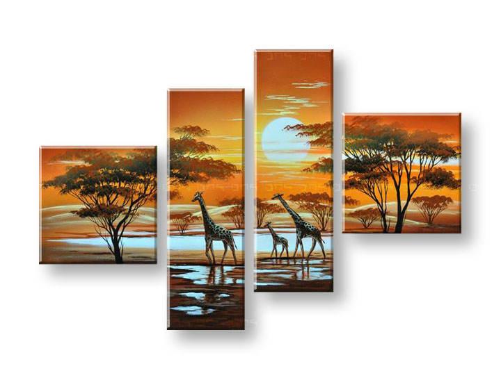 Ručně malovaný obraz na zeď AFRIKA FB101E4 malované obrazy FABIO