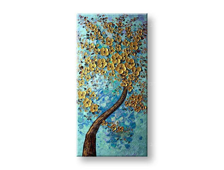 Ručně malovaný obraz na zeď STROMY FB104E1 malované obrazy FABIO