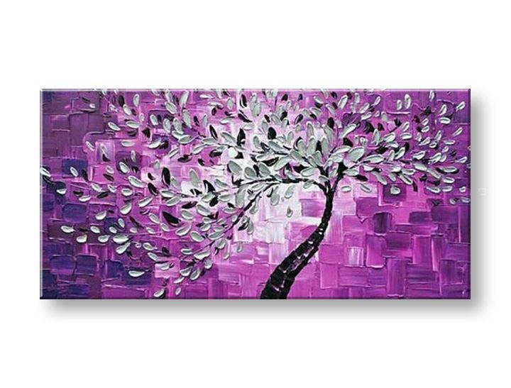 Ručně malovaný obraz na zeď STROMY FB106E1 malované obrazy FABIO