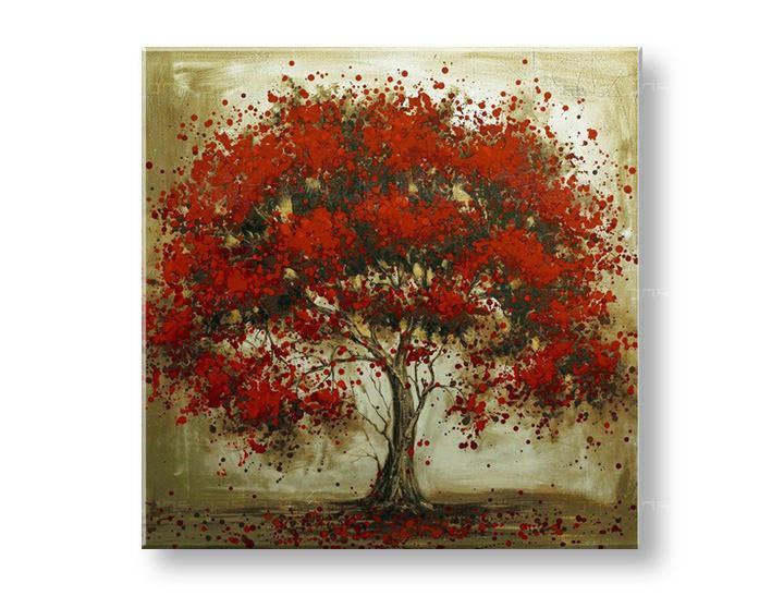 Ručně malovaný obraz na zeď STROMY FB107E1 malované obrazy FABIO