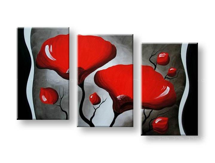 Ručně malovaný obraz na zeď KVĚTY FB110E3 malované obrazy FABIO