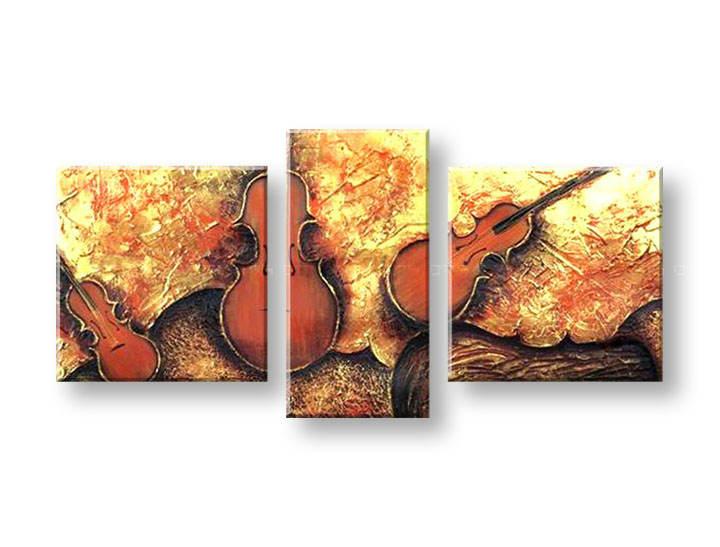 Ručně malovaný obraz na zeď HUDBA FB118E3 malované obrazy FABIO