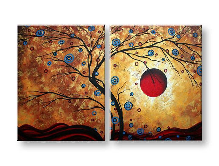 Ručně malovaný obraz na zeď STROMY FB119E2 malované obrazy FABIO