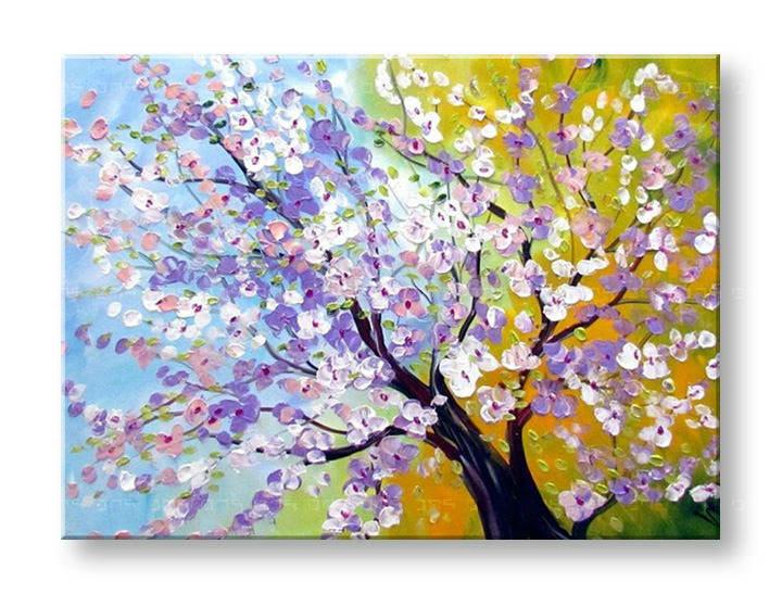 Ručně malovaný obraz na zeď STROMY FB121E1 malované obrazy FABIO