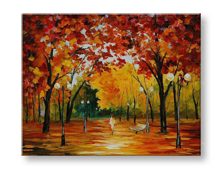 Ručně malovaný obraz na zeď STROMY FB123E1 malované obrazy FABIO
