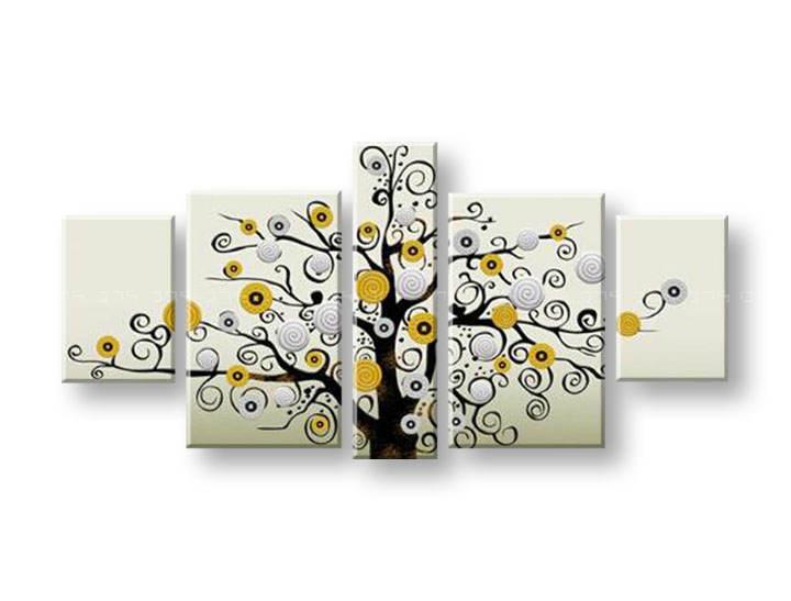 Ručně malovaný obraz na zeď STROMY FB127E5 malované obrazy FABIO