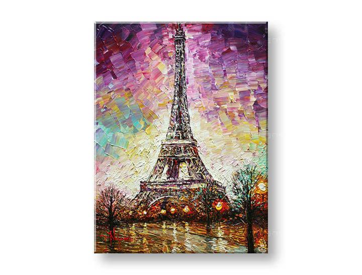 Ručně malovaný obraz na zeď PARÍŽ FB129E1 malované obrazy FABIO