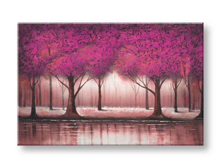 Ručně malovaný obraz na zeď STROMY FB133E1 malované obrazy FABIO