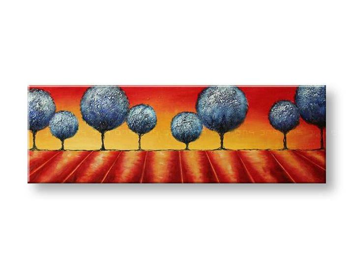 Ručně malovaný obraz na zeď STROMY FB136E1 malované obrazy FABIO