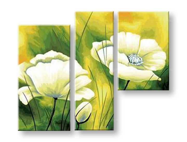 Ručně malovaný obraz na zeď KVĚTY FB138E3 malované obrazy FABIO