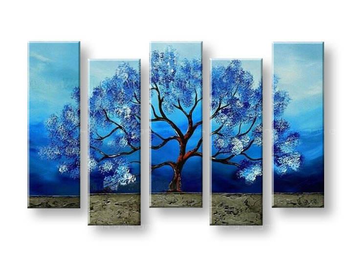 Ručně malovaný obraz na zeď STROMY FB139E5 malované obrazy FABIO