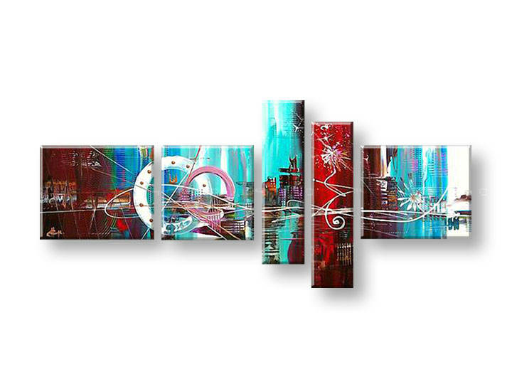 Ručně malovaný obraz na zeď ABSTRAKT FB140E4 malované obrazy FABIO