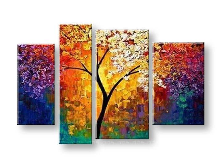Ručně malovaný obraz na zeď STROMY FB144E4 malované obrazy FABIO