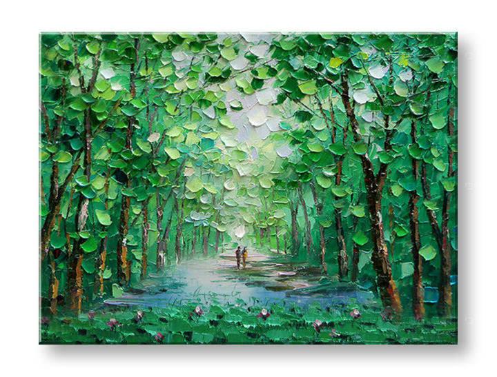 Ručně malovaný obraz na zeď STROMY FB146E1 malované obrazy FABIO