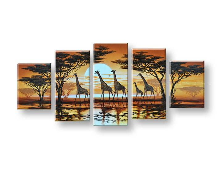 Ručně malovaný obraz na zeď AFRIKA FB147E5 malované obrazy FABIO