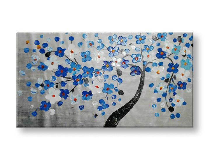 Ručně malovaný obraz na zeď STROMY FB150E1 malované obrazy FABIO