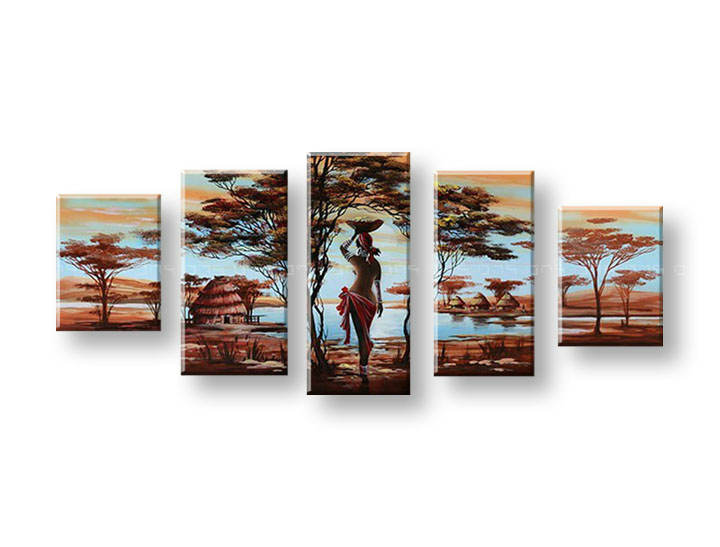 Ručně malovaný obraz na zeď AFRIKA FB151E5 malované obrazy FABIO
