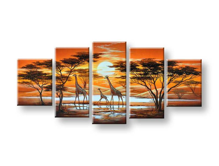 Ručně malovaný obraz na zeď AFRIKA FB152E5 malované obrazy FABIO