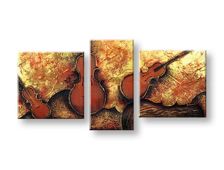 Ručně malovaný obraz na zeď HUDBA FB157E3 malované obrazy FABIO