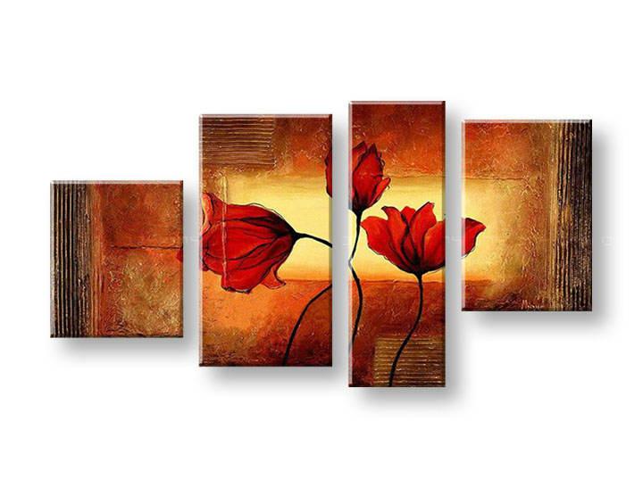 Ručně malovaný obraz na zeď KVĚTY FB162E4 malované obrazy FABIO