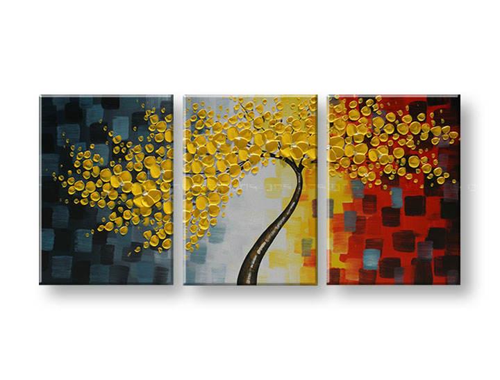 Ručně malovaný obraz na zeď STROMY FB171E3 malované obrazy FABIO