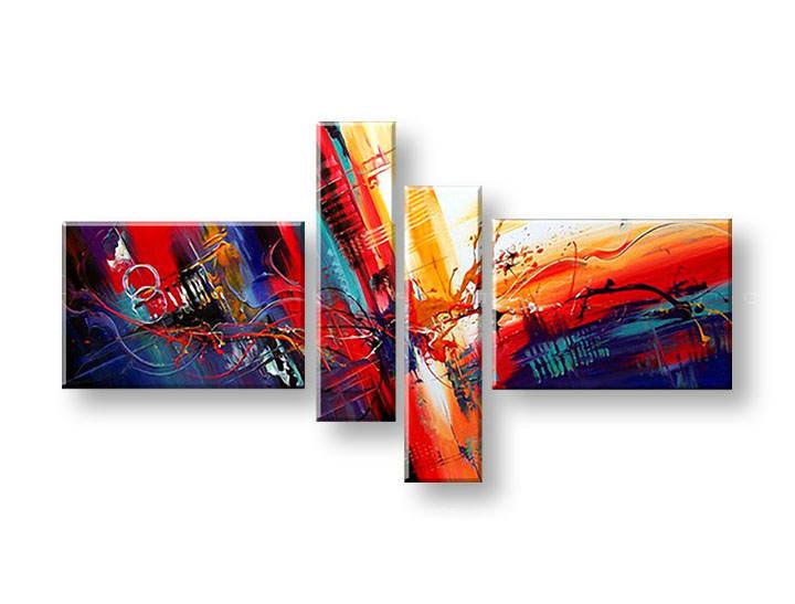Ručně malovaný obraz na zeď ABSTRAKT FB180E4 malované obrazy FABIO