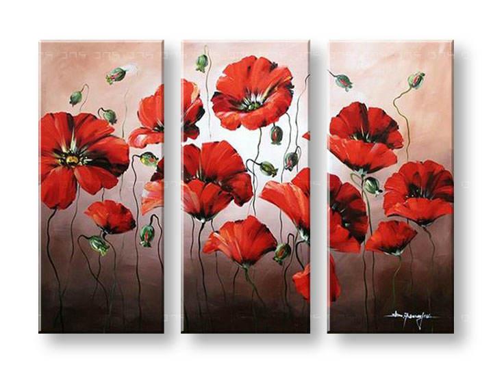 Ručně malovaný obraz na zeď KVĚTY FB181E3 malované obrazy FABIO