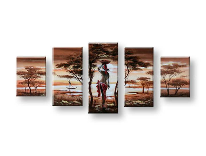 Ručně malovaný obraz na zeď AFRIKA FB196E5 malované obrazy FABIO