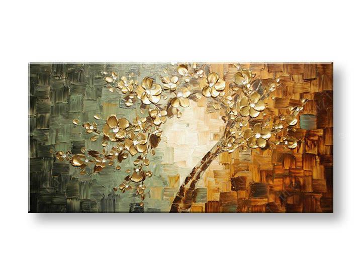Ručně malovaný obraz na zeď STROMY FB203E1 malované obrazy FABIO
